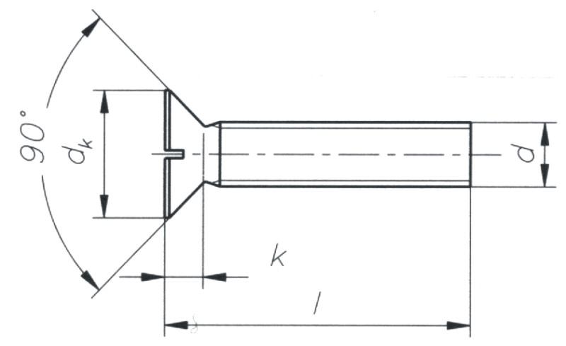 vz St Senkkopfschraube mit Schlitz M 3 x 10  DIN 963