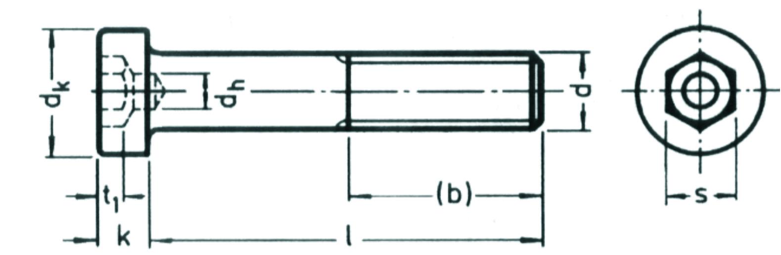 Schön DIN 6912 Zylinderschraube mit Innensechskant und niedrigem Kopf  WI76
